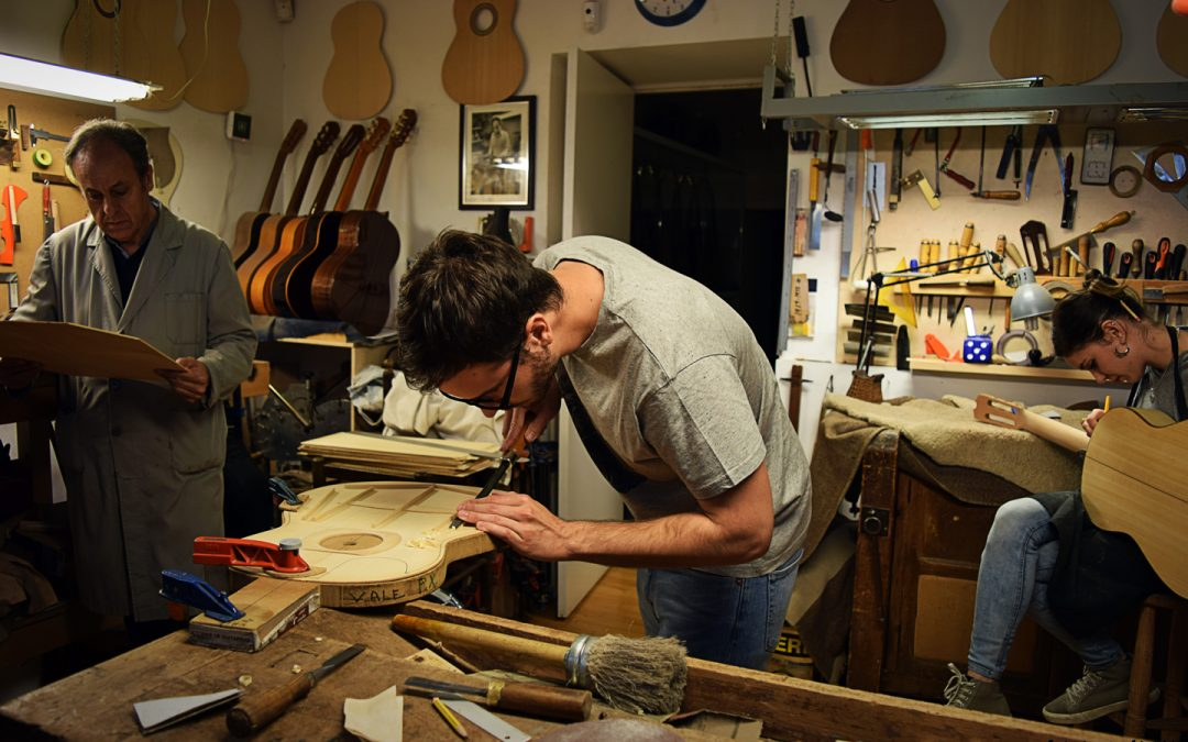 Spanish Guitar making at London Craft Week