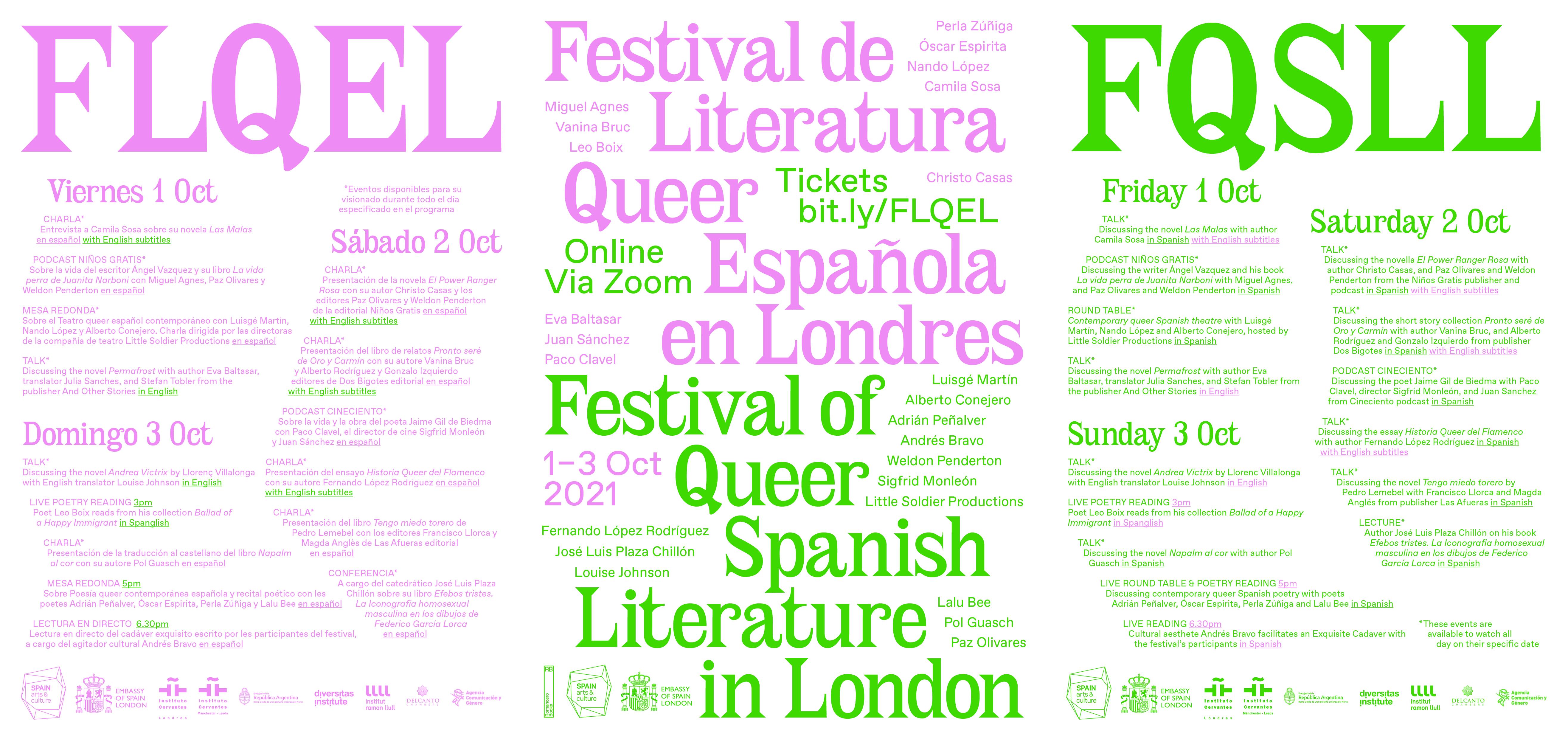 Festival of Queer spanish Literature in London