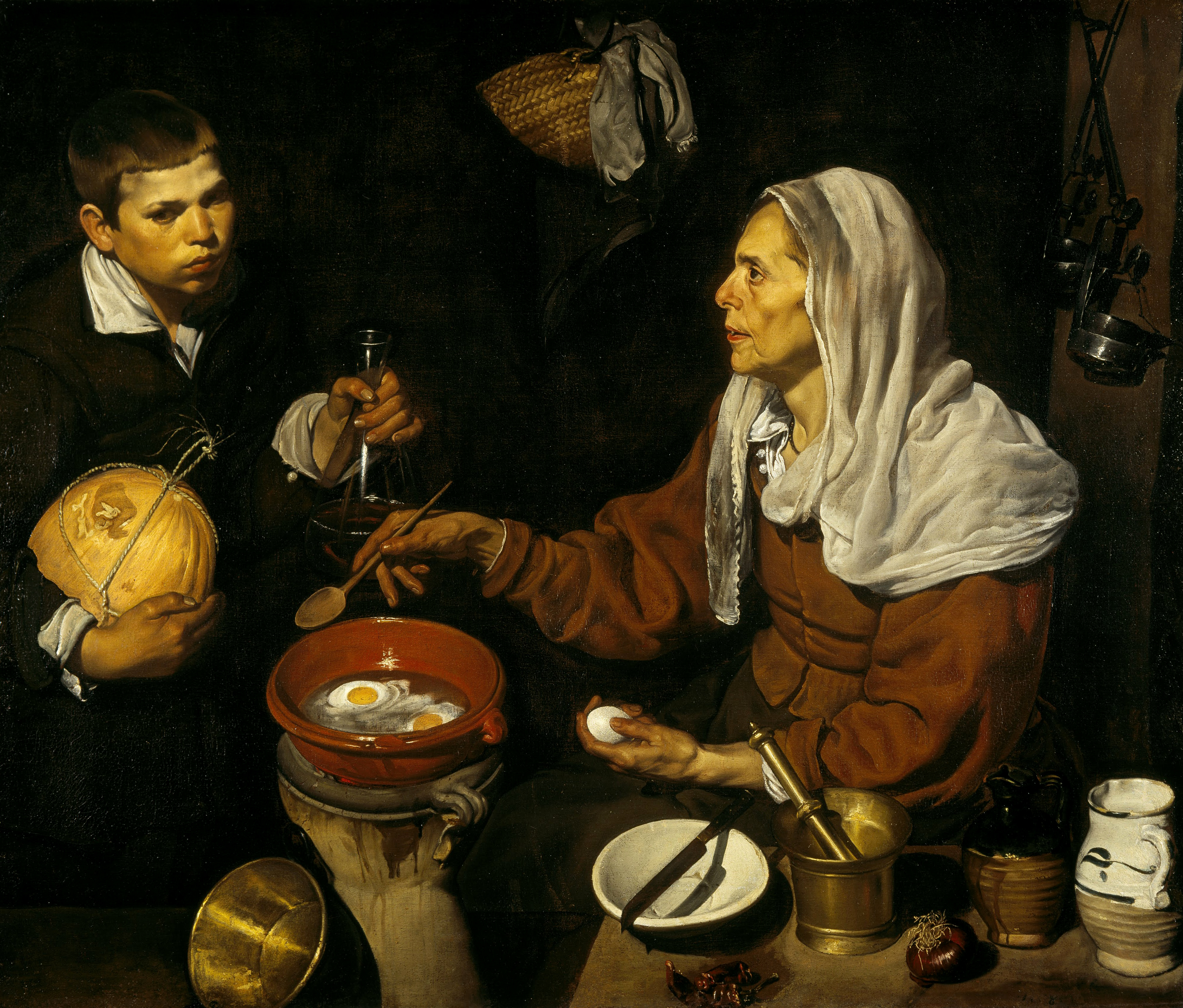 From Seville to Edinburgh: the genesis and rout of the Old Woman Frying Eggs